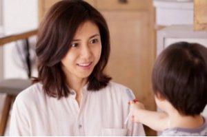 松嶋菜々子さんの子供の画像ある?
